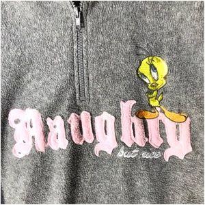 """Vintage Tweety """"Naughty But Nice"""" Hoodie - XL/XXL"""